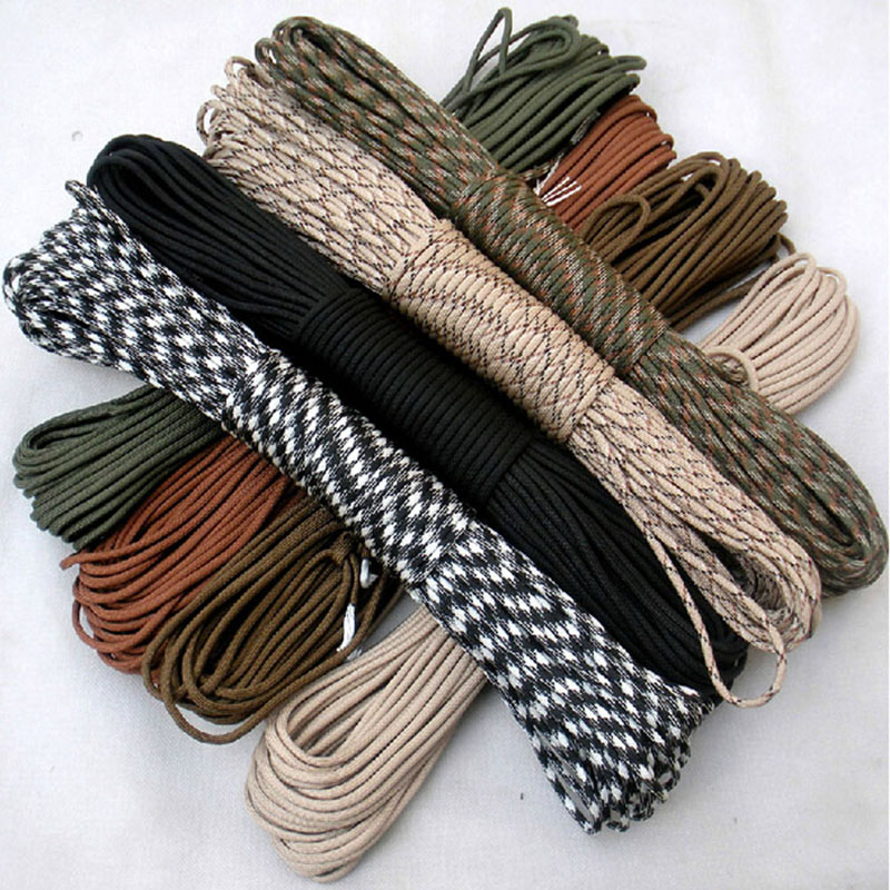 108 colors 100M Paracord 550 Paracord Parachute Cord Lanyard Rope Mil Spec Type III 7Strand  Climbing Camping survival equipment oumily reflective multi purpose paracord nylon rope cord reflective grey 30m 140kg