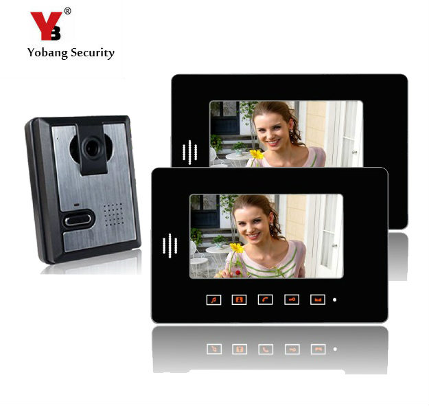 Yobang Security freeship 7 Monitor Video Intercom door bell Camera Doorbell Answering System for Apartment video door phone yobang security freeship 7 video intercom for villa 2 monitor doorbell camera with 5pcs rfid cards hd doorbell camera in stock