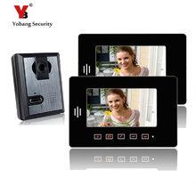 Yobang Security freeship 7″ Monitor Video Intercom door bell Camera Doorbell Answering System for Apartment video door phone