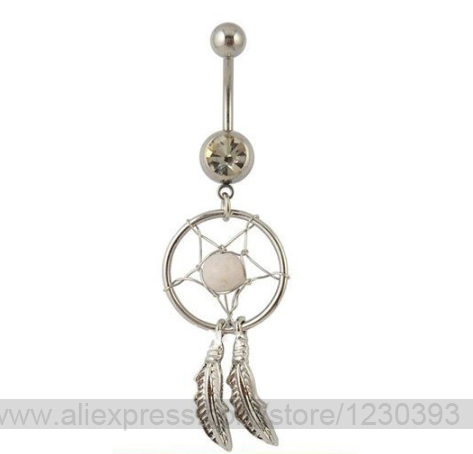 Belly Piercing Septum Nose Ring Fashion Gift Mixed 40 Colors Dream Fascinating Dream Catcher Nose Ring