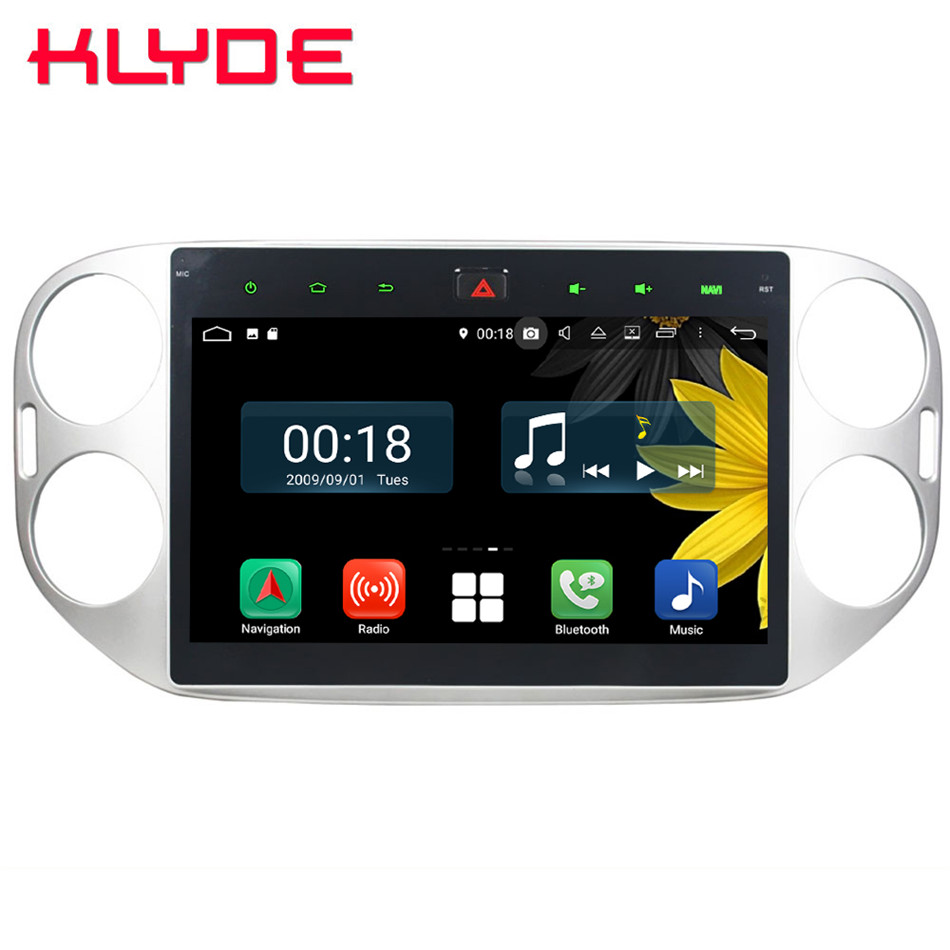 10.1 IPS Octa Core 4g Android 8.1 4 gb RAM 64 gb ROM RDS Lecteur DVD de Voiture Autoradio GPS Glonass Pour Volkswagen VW Tiguan 2011-2016