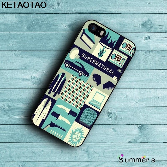 KETAOTAO Supernatural Quotes Phone Cases for iPhone 4S 5C 5S 6S 7 8 Plus XR XS Max for XS7 8 9 6 Case Soft TPU Rubber Silicone image