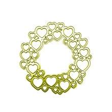 Eastshape Heart Circle Dies Metal Cutting for DIY Scrapbooking Love Die Cut Card Making Craft Frame Paper Photo Album New