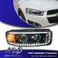 Una Ventanilla única de Estilo para Chevrolet Captiva LED Faros Nueva Captiva led DRL Lente Doble Haz H7 HID Xenon Accesorios del coche