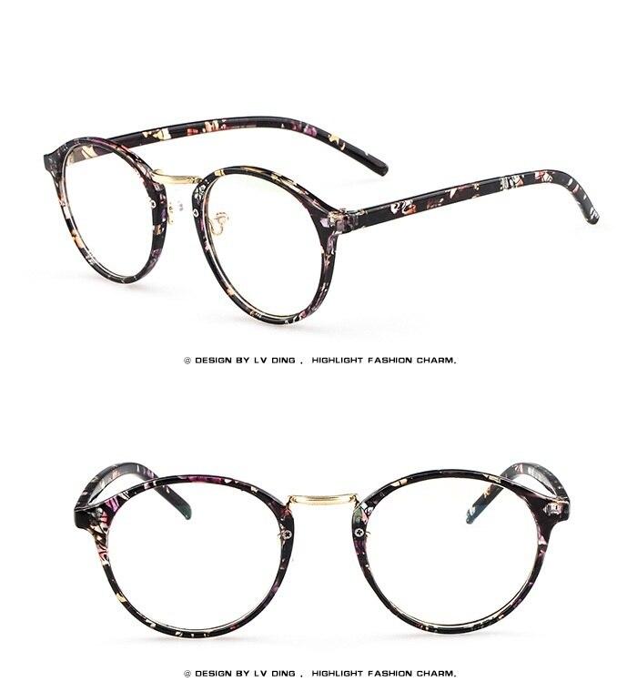 861bd856bf Pink floral prescription glasses frame black floral eyewear for women women  spectacles frame for Myopia Online sale