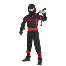 Enfants garçons enfants noir Ninja guerrier Cosplay Costumes Halloween fête danniversaire Costumes cadeau