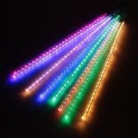 50 cm RGB Meteor Navidad cadena decoración de árbol de luz LED lámpara 100-240 V luz del día