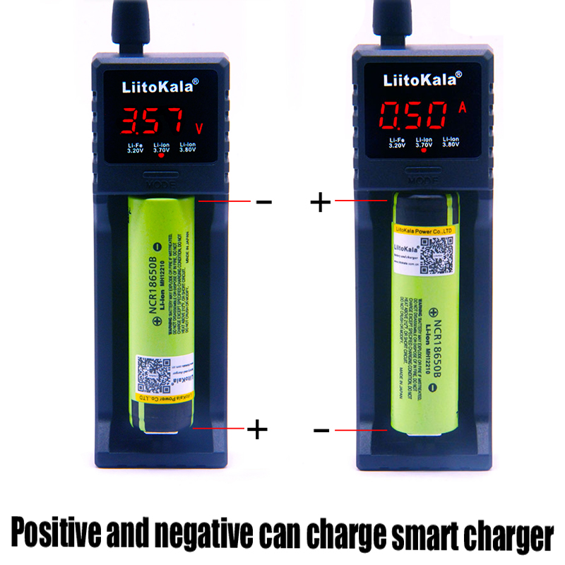 LiitoKala lii-S1 18650 chargeur de batterie pour 26650 16340 RCR123 14500 LiFePO4 1.2 V Ni-MH ni-cd chargeur intelligent de batterie rechargeableLiitoKala lii-S1 18650 chargeur de batterie pour 26650 16340 RCR123 14500 LiFePO4 1.2 V Ni-MH ni-cd chargeur intelligent de batterie rechargeable