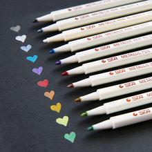 10 sztuk/partia STA metaliczny marker DIY Scrapbooking rzemiosło miękki pisak z pędzelkiem Art markery do rysowania papiernicze artykuły szkolne
