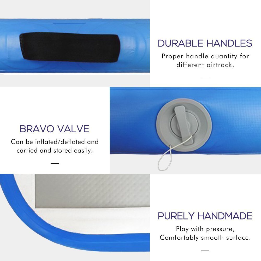 Pompe à Air électrique de Trampoline du plancher 5 m de voie d'air de culbuteur d'air gonflable de gymnastique pour l'usage à la maison/formation/Cheerleading/plage - 3