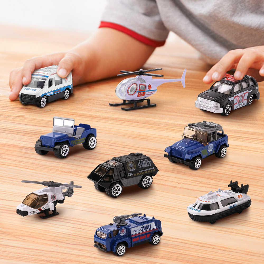 Police series Die Cast Metal Toy Cars Set of 3Pcs, Model Cars Vehicle Set Collection Gift for Boys Girls Kids 1:64 NO.XY238