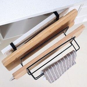 Image 4 - Cocina doble Perchero de capas de toallas con soporte de estante de tablero de Rack de almacenamiento de accesorios de estante de cocina