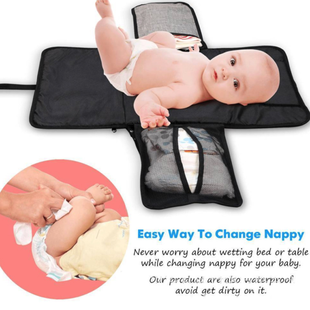 Multifunctional Portable Baby Diaper Pad Storage Foldable Waterproof Baby Insulation Pad For Changing Pad Diaper Changing Bag