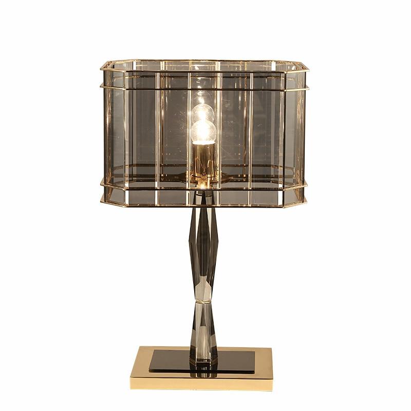 Lampen & Schirme Schreibtischlampen Original Post Moderne Luxus Grau Glas Kristall Led Tisch Lampe Lustre Platte Metall Schreibtisch Lampe Nacht Lam Leuchte Lamparas Innen Beleuchtung Quell Sommer Durst