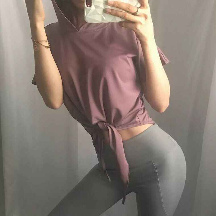 Tshirts do esporte mulheres yoga tops secagem rápida execução roupas de jogging ginásio hoodies moda sportswear ao ar livre exercício de dança sexy
