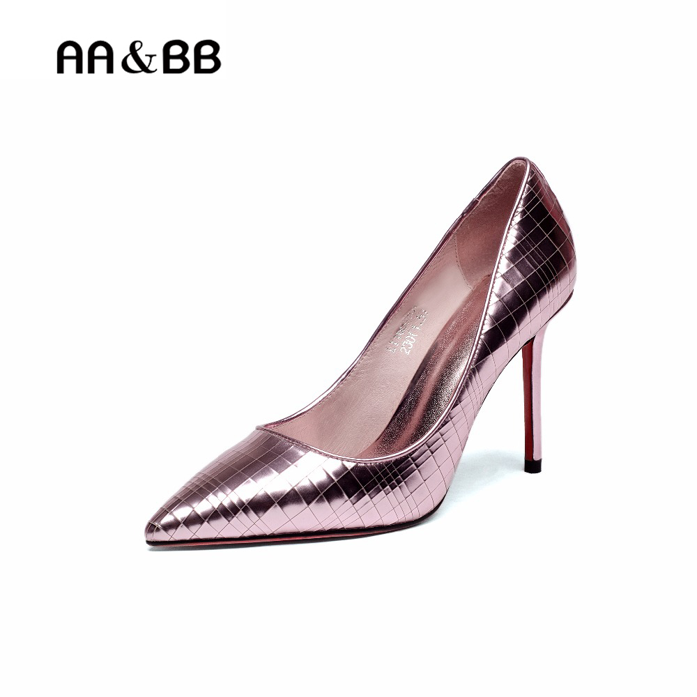 AA&BB Elegant Lady shoes Women Velvet Basic Pumps Pointed Toe Woman Dress Shoes High Heels Boat Shoes Thin Heeled Ladies Shoes lady big size 4 15 elegant summer glitter buckle strap soft pointed toe thin high heeled sandals shoes women pumps 5colors girls