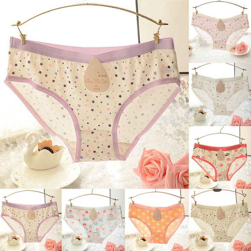 Women Girls Cotton Underwear Printed Briefs Panties Knickers Lingerie S72 Back To Search Resultsunderwear & Sleepwears