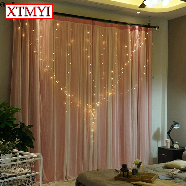 custom blackout curtains voile girls room solid modern window