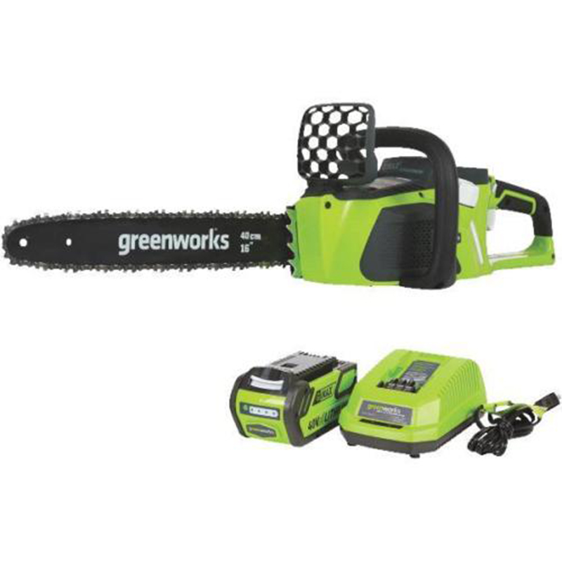 Greenworks 40v 4.0Ah Cordless Motosserra motor Brushless, 20312 Motosserra, com 4.0ah bateria e carregador,