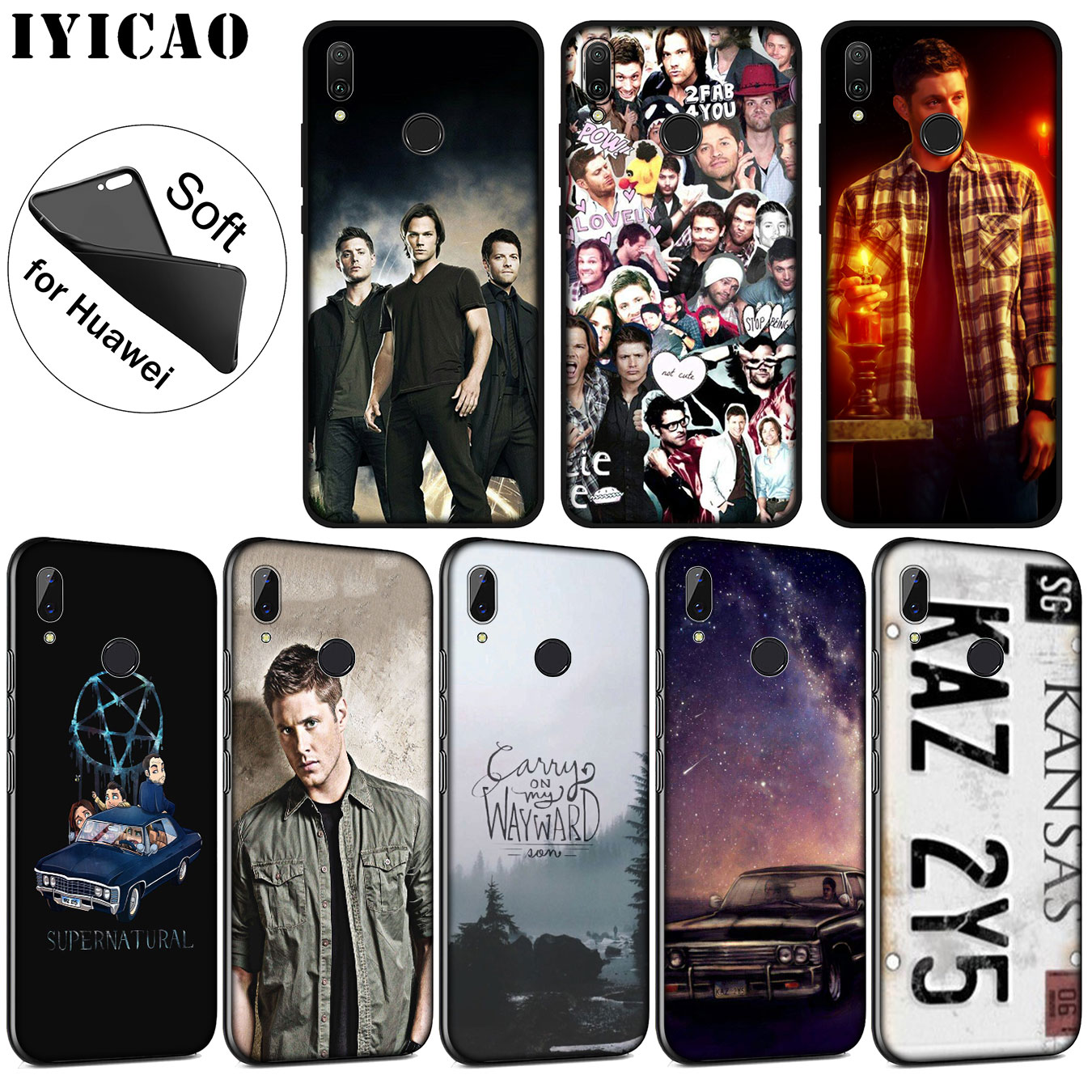 IYICAO Supernatural Jared Padalecki Soft Silicone Case for Huawei P30 P20 Pro P10 P9 P8 Lite Mini 2017 2016 2015 P smart Z 2019 image