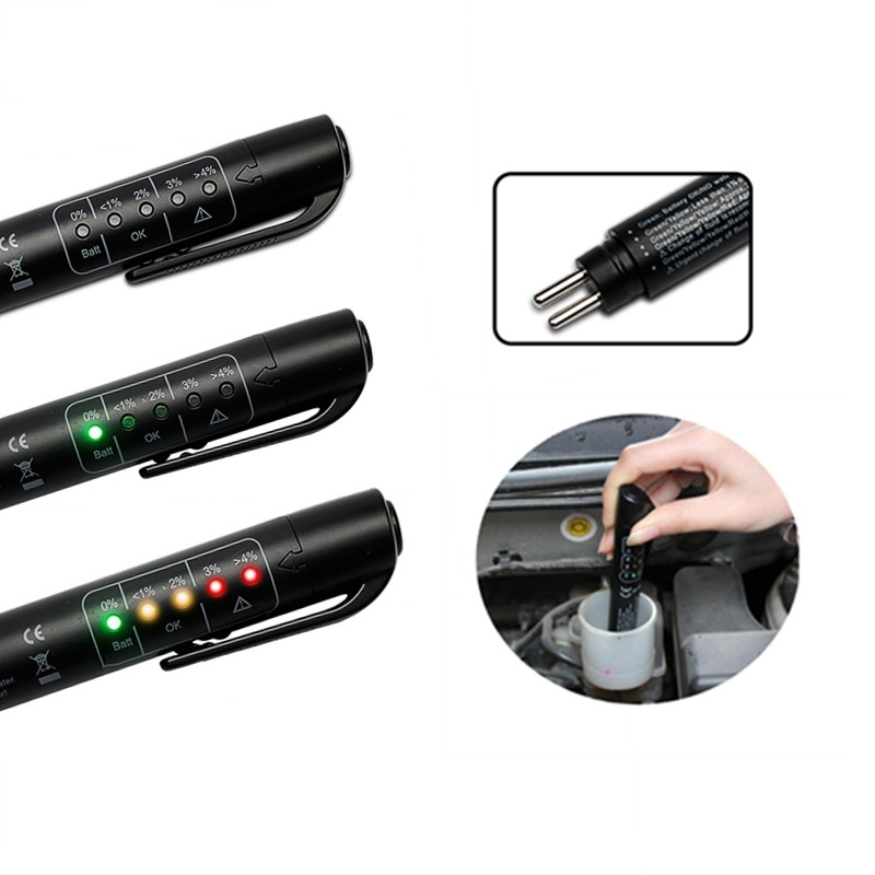 Image 3 - 2 10pcs Brake Fluid Tester universal 5 LED Mini Electronic Brake Fluid Liquid Tester Pen for Auto Car Vehicle Diagnostic Tools-in Brake Fluid from Automobiles & Motorcycles