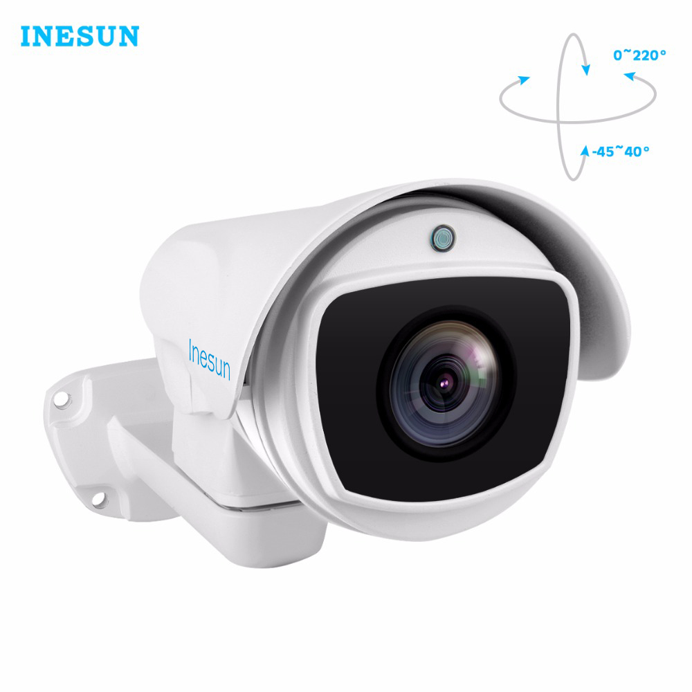 Inesun Outdoor IP PTZ Camera 2MP/5MP Super HD 2592x1944 Pan/Tilt 10x Optical Zoom Waterproof 100m IR Night Vision Bullet Cam овальный купить ковры ковер super vision 5412 bone овал 3на 5 метров