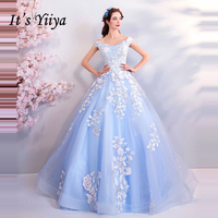 It's Yiiya Elegant Formal Dress for Party Boat Neck Sleeveless Embroidery Bling Sequined Evening Dresses Fashion Designer LX865