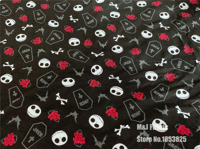 Nightmare Before Christmas Zombie.Us 9 98 5 Off 50 160cm Lycra Knit Cotton Sewing Fabric The Nightmare Before Christmas Terror Thriller Zombie Diy Handmade Material Patchwork In
