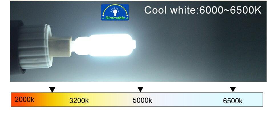 G9 LED Bulb Lamps 220V 110V LED G9 Dimmable 142232 LEDs Ampoule Bombillas LED Lamp Light Bulbs  (7)