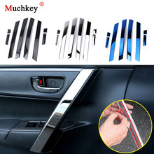 8Pcs Car Accessories Interior Armrest Trim Stainless Steel Door Handle Trim For Toyota Corolla 2014 2015 2016 2017 2018