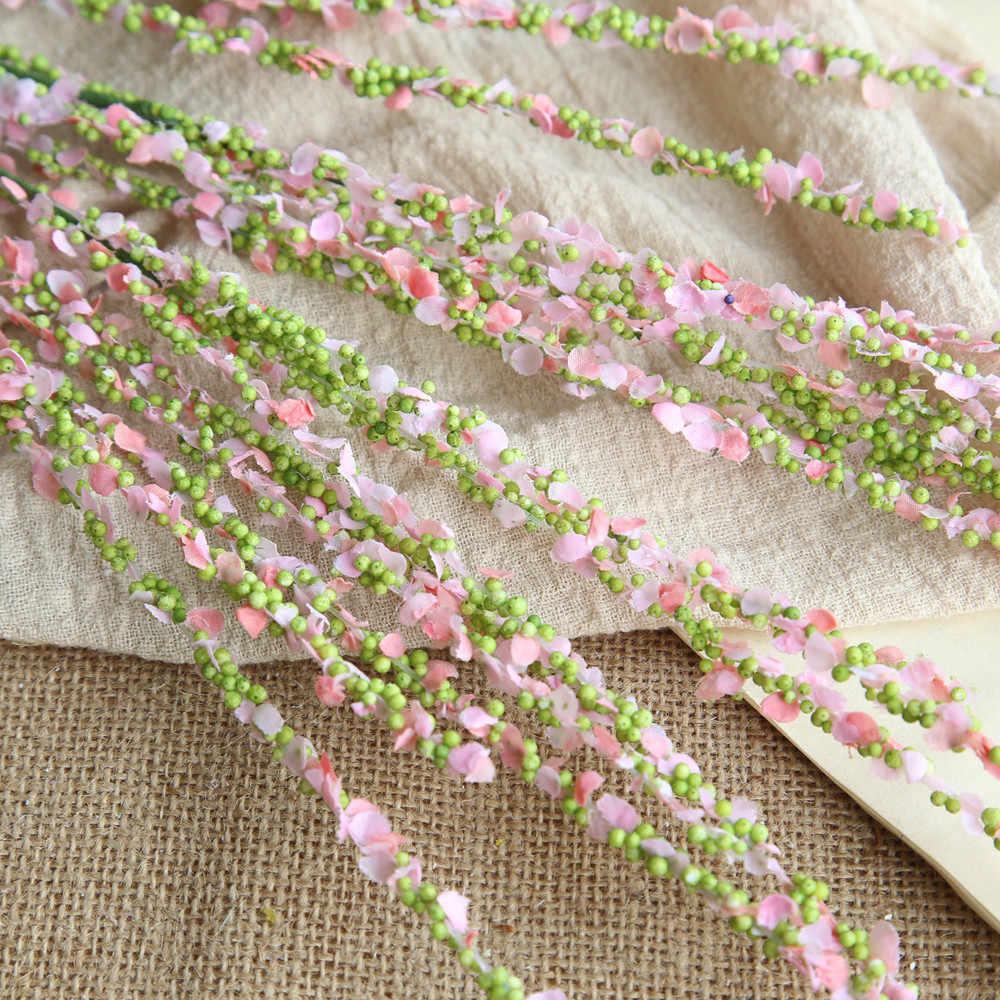 ... 1 филиал Искусственные цветы зимний жасмин home decor цветок свадебные  букеты дорога цветок стены грабли цветы ... b09437e9290