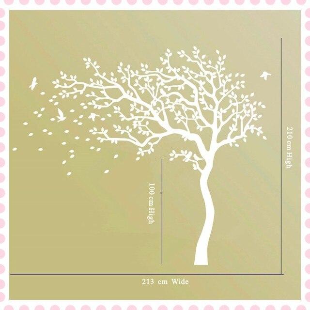 Beautiful Huge White Tree Flowers Vinyl Wall Decals Nursery Tree and ...