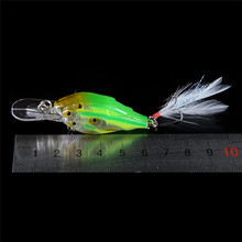 5PCS Super shoal 5 Colors 7cm 6.5g Hard Bait Minnow Fishing lures Bass Fresh Salt water 6# hook with feather Tackle Wobblers