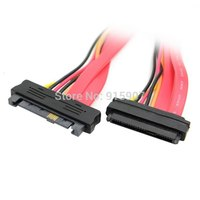 10pcs/lot Cablecc Chenyang SAS Hard Disk Drive SFF 8482 SAS Cable 29 Pin Male to Female Extension Cable 0.5m