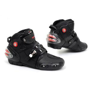 Image 1 - NEW Motorcycle Short boot Microfiber Leather Probiker Racing Ankle Riding shoes Motocross Boats Non Slip Shoes motorcycle Boots