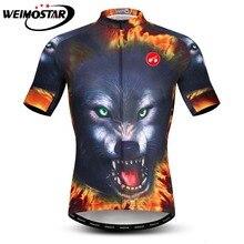 3D Волк лев тигр Велоспорт Джерси мужчины Ropa Ciclismo велосипедная одежда лето MTB футболка для езды на велосипеде Майо Ciclismo