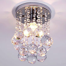 Modern Europe style Crystal  corridor lights absorb dome light dia15cm H20cm E14*1  k9 crystal circle aisle lamp ceiling lamp