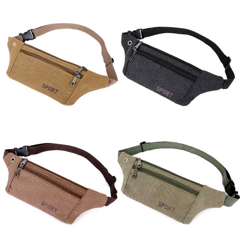 Fashion Style Men Canvas Phone Bag Waist Hip Belt Wallet Purse Case Pouch Pochete Homem Fashion Camouflage Outdoor 1pc Bag Money Card Bags New Waist Packs Luggage & Bags