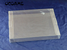 OCGAME Clear transparent 8 bit NES Game Box CIB games plastic PET for NES Protector Case game boxes High Quality 5pcs/lot