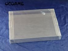 Ocgameクリア透明8 ビットファミコンゲームボックスcibゲームプラスチックペットnesプロテクターケースゲームボックス高品質5ピース/ロット