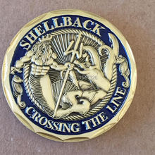 50pcs/lot DHL free shipping,Shellback US Navy Marine Corps Challenge Coin