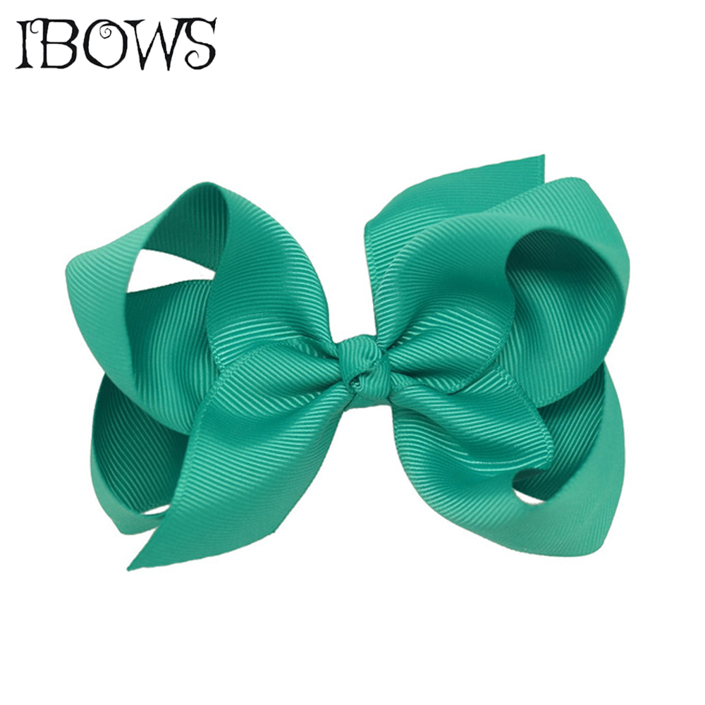 2Pcs/lot 4 Fashion Boutique Ribbon Hair Bow For Kids Girls Solid Hairbows Hairclip Hamdmade Cheap Price Bow For Kids 30 Colors