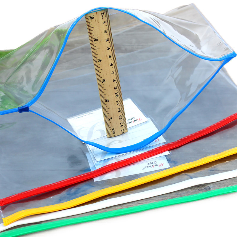 20pcs/set Stationery A4/A5/A6 High Quality PVC Transparent Edge Bags File Bag Office & School Supplies For Invoice Paper Data