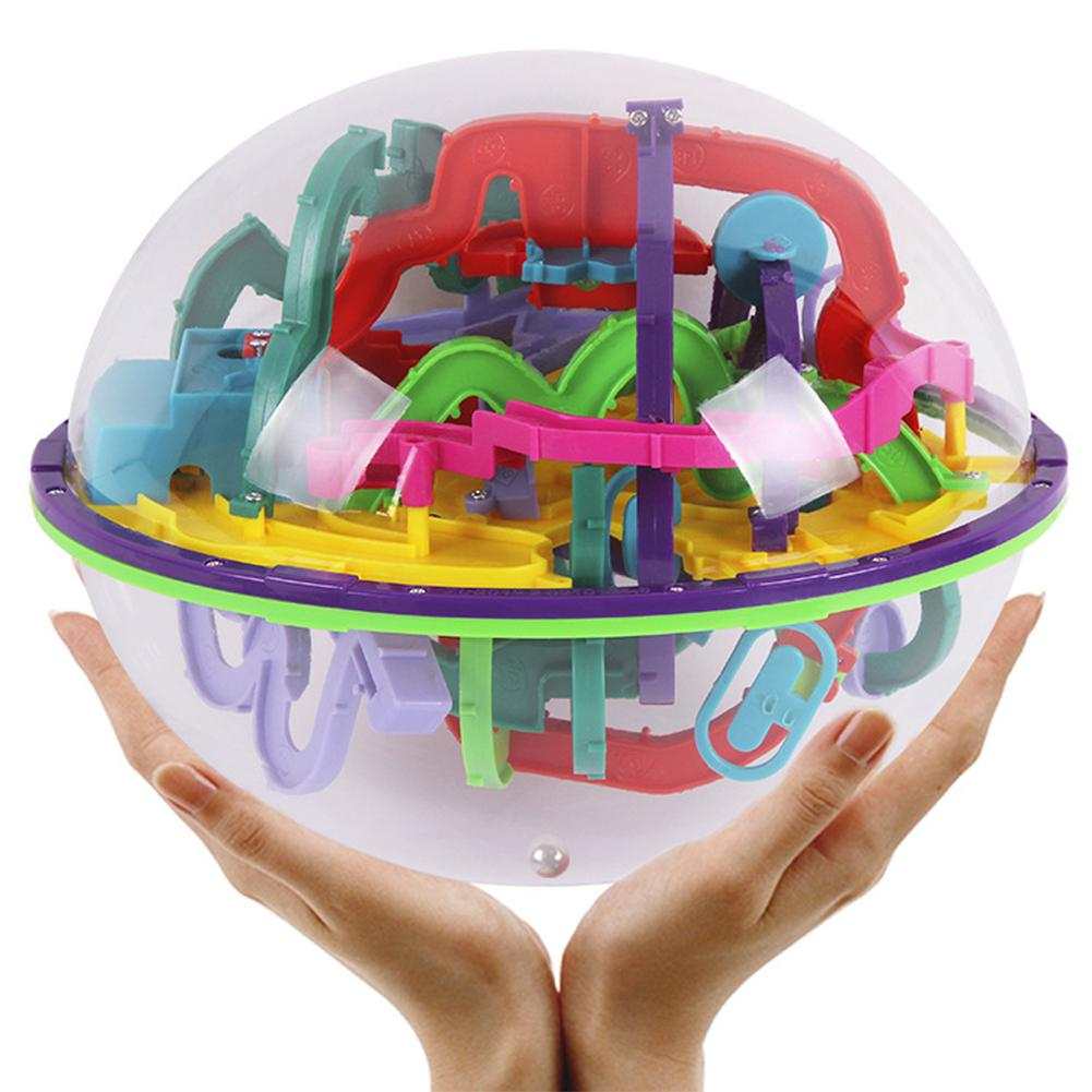 LeadingStar 299 Challenging Levels Magic 3D Maze Ball Interesting Labyrinth Puzzle Game Globe Toys