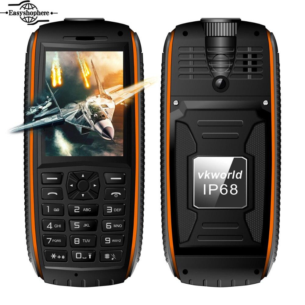 Цена за 2.4 Дюймов Vkworld Stone V3 МАКС Мобильного Телефона 5300 мАч Супер Power Bank IP68 Водонепроницаемый Телефон Пыле Fm радио Dual SIM мобильный телефон