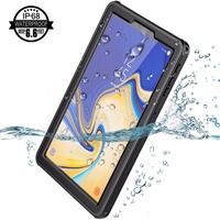 For Samsung Galaxy Tab S4 Waterproof Case with Built in Screen Full Body Rugged Protective Case for Galaxy Tab S4 10.5 inch 2018