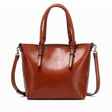 цена на Famous Brand fashion handbag women large capacity shoulder bag female high quality artificial leather tote Casual Crossbody Bag