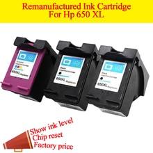 2BK + 1 цвет картридж для HP 650 HP650 HP650xl картридж показать чернила для HP Deskjet Ink Advantage 1015 1515 2545 2645 3545