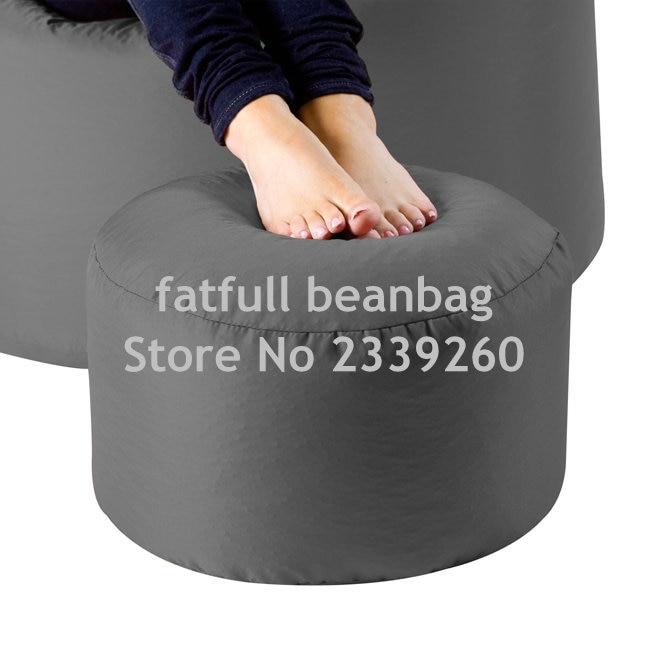 Cover Only No Filler Dark Grey Bean Bag Ottoman Pouf
