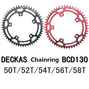 Image 2 - DECKAS مستديرة 130BCD 50 T/52 T/54 T/56 T/58 T الدراجات سلسلة الدراجة دراجة سلسلة دراجة كرانكبيت لوحة BCD 130 مللي متر الأسنان لوحة شحن مجاني